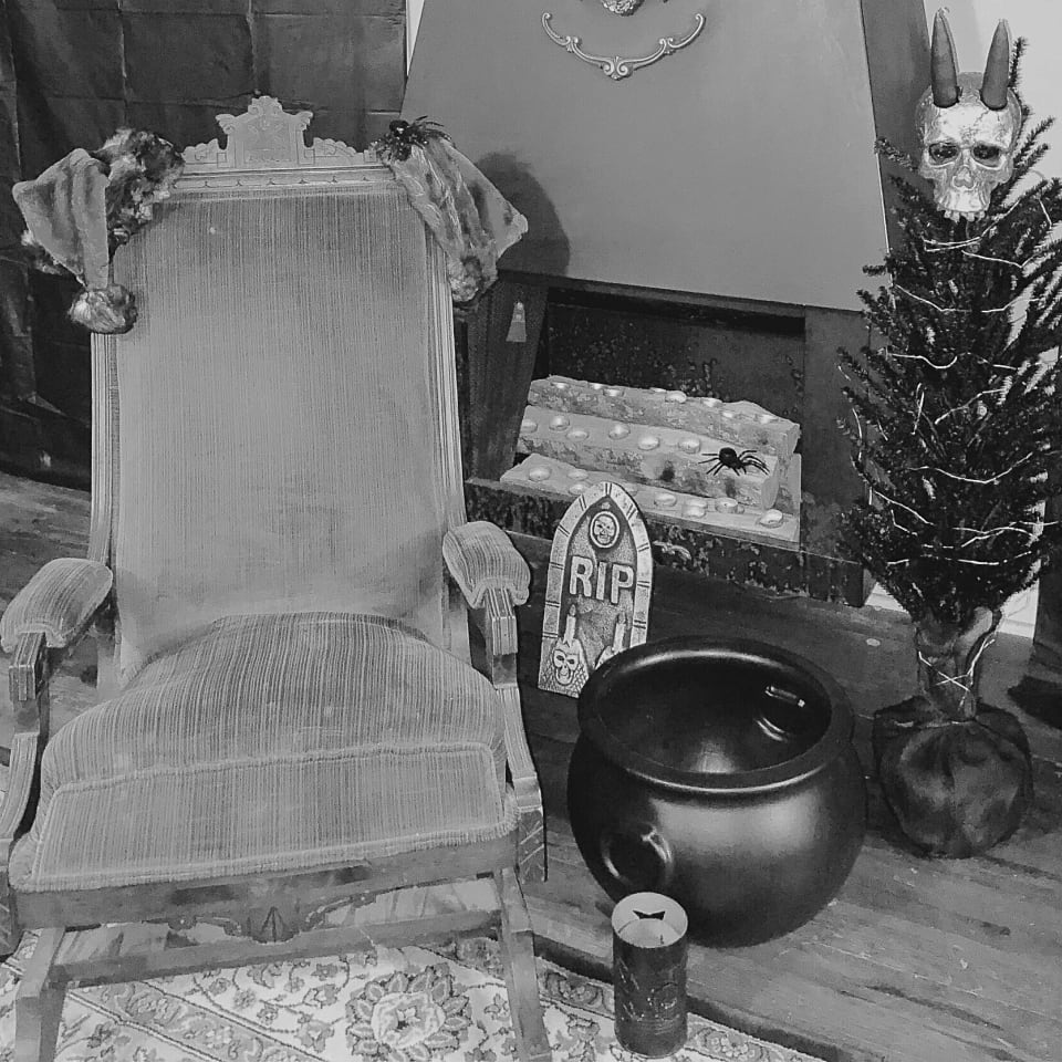christmas creepy chair